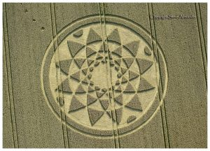 Huge crop circle draws visitors - Farmer asking £2 donations to cover cost